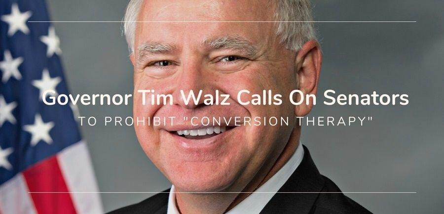 governor tim walz conversion therapy