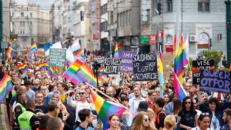 sarajevo first pride march from euronews