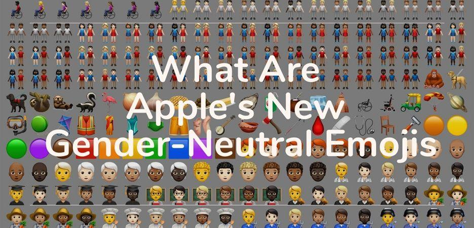 apple gender neutral emojis
