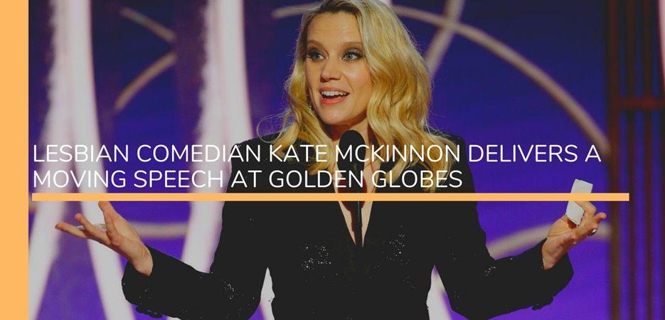 kate mckinnong golden globes 2020