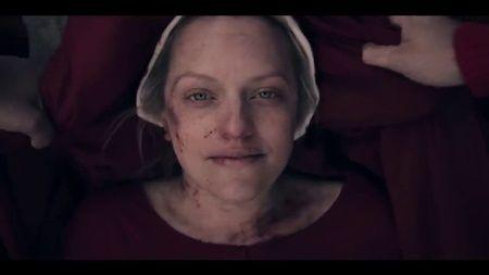"June (Elizabeth Moss) in ""The Handmaid's Tale"" season 4."